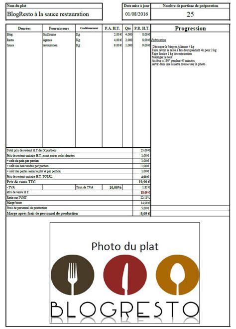 les fiches techniques un outil important dans la gestion d un restaurant