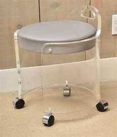 lucite bathroom vanity chair on wheels decofurnish