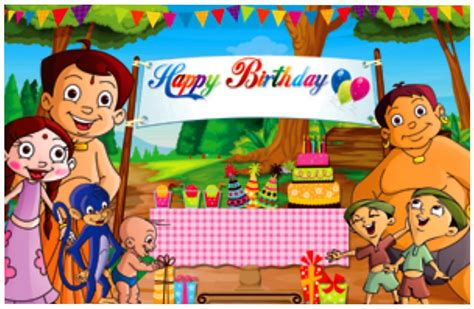 Baby Shower Decorations India by Buy Chhota Bheem Happy Birthday Backdrop Online In India
