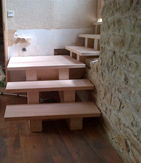conception fabrication et pose d un escalier sur mesure r2s construction bois