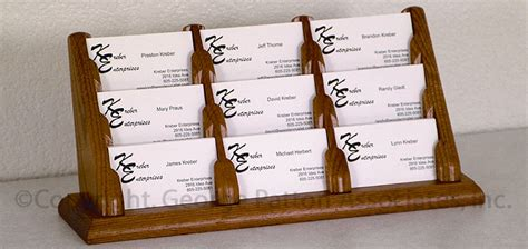 Wooden Multiple Business Card Holders