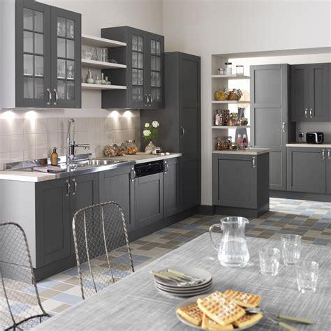 meuble de cuisine gris delinia nuage leroy merlin