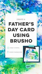 Create a Father's Day Card using BRUSHO - Every-Tuesday