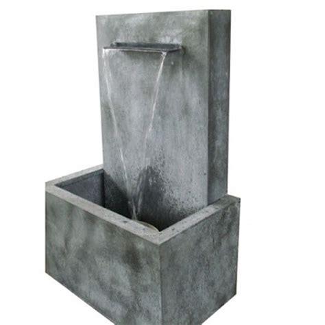 fontaine de jardin en zinc zen lame d eau fontaine de jardin