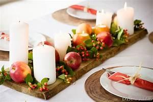 Einfache Herbstdeko Tisch : herbstliche tischdeko mit pfeln und kerzen ~ Markanthonyermac.com Haus und Dekorationen