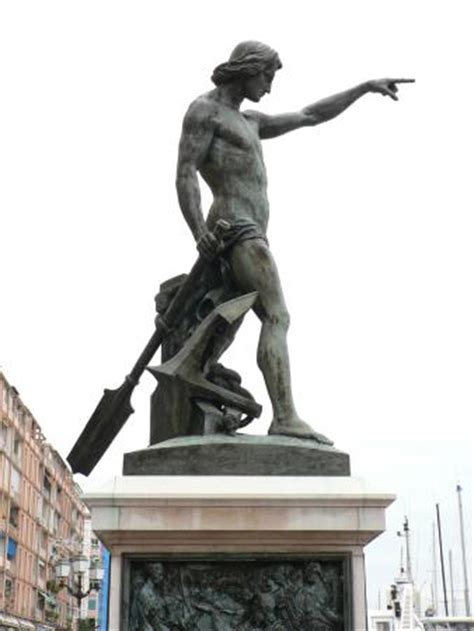 le g 233 nie de la navigation dit quot cuverville quot picture of statue du genie de la navigation toulon