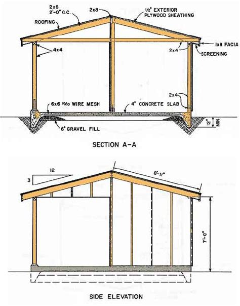 shed plans vip12 215 12 shed plans storage shed designs 5