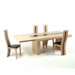 table de salle 224 manger contemporaine extensible en ch 234 ne massif galanga 4 pieds tables