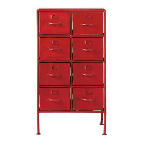 cabinet de rangement indus en m 233 tal l 52 cm cranberry maisons du monde
