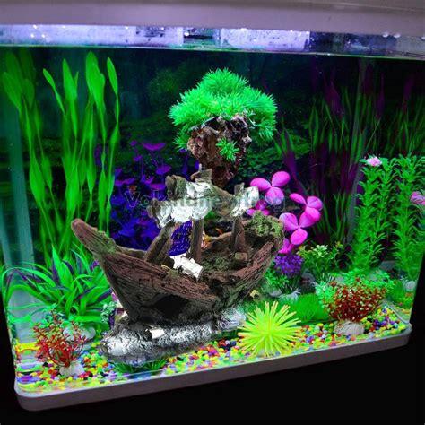 aquarium ornament wreck sunk ship sailing boat destroyer fish tank cave decor ebay