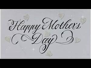 cursive fancy letters - how to write Happy Mother´s Day ...