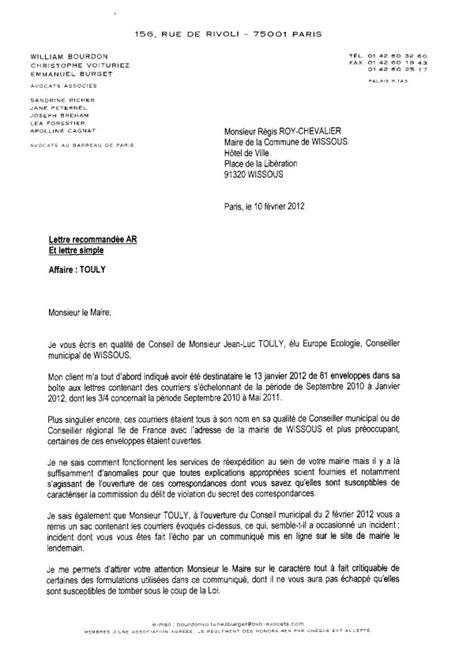 lettre de fausse accusation