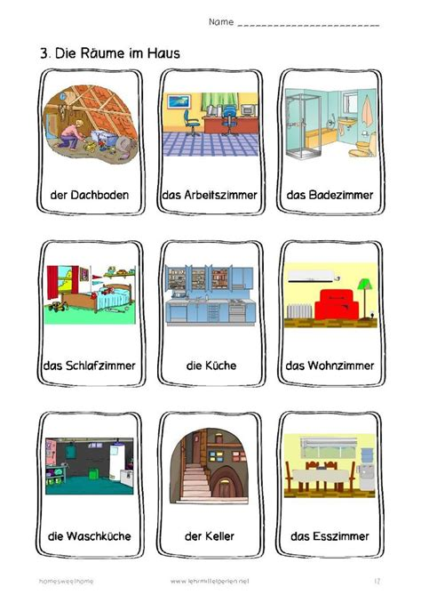 German Words Home Sweet Home  German, Room And House