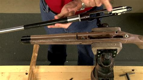 gunsmithing how to glass bed a rifle stock presented by