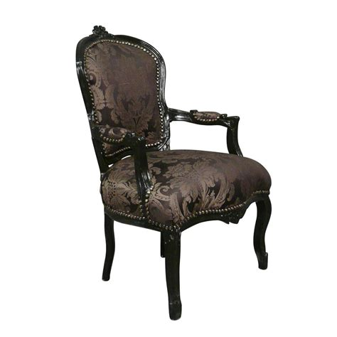 fauteuil louis xv noir rococo meuble baroque