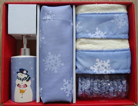 Christmas Pc Bath Set-snowman-shower Curtain, Hooks