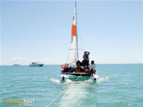 Inflatable Boats Geelong by 18 Foot Catamaran Inflatable 4 Person Sailing Boat For