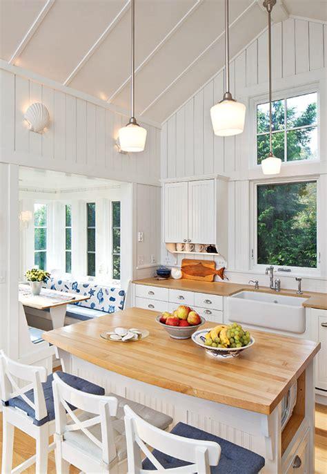 White Coastal Cottage Kitchen