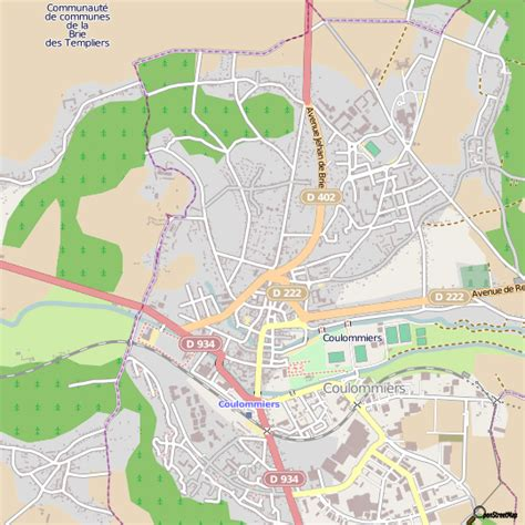 plan coulommiers carte ville coulommiers