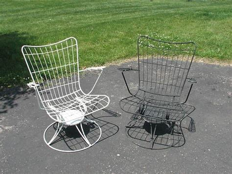 vintage mid century post 50 s 60 s modern homecrest wire patio chairs furniture mid century