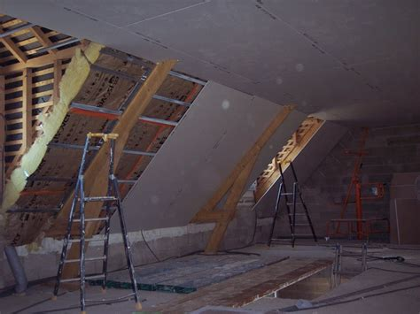 notre maison en autoconstruction placo de l 233 tage plafond rant suite