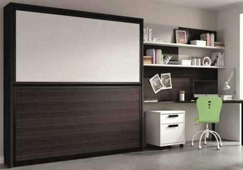 armoire lit superposee transversale avec bureau integre et