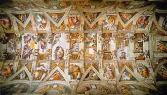 sonnet caud 233 sur le plafond de la sixtine de michel ange critiques de colimasson