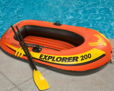 Inflatable Blow Up Boat by Inflatable Intex Explorer 200 Boat Set Two Person Blow