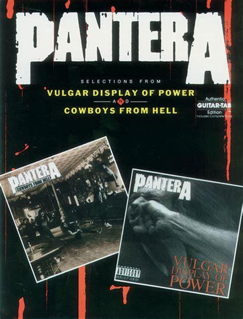 buy pantera tablature books