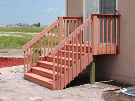 composite deck composite deck stair railing
