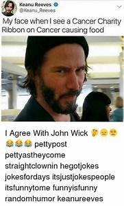 Keanu Reeves My Face When I See a Cancer Charity Ribbon on ...