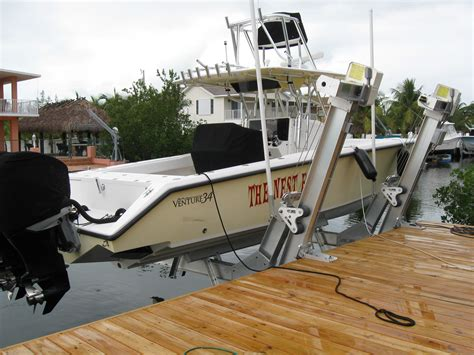 Boat Lift In Spanish by Boat Lifts Of South Florida Tavernier Florida Fl