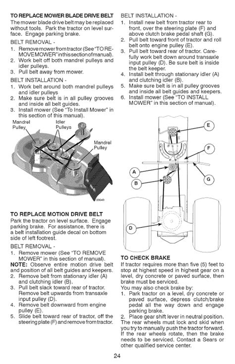 how do yo tighten the motion drive belt on craftsman lt2000 6 speed belt is and