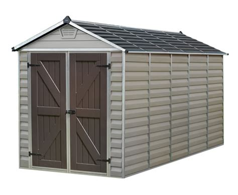 palram 6x12 plastic shed kit w skylight roof floor