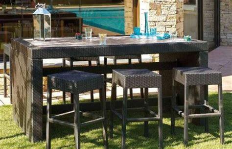 table bar de jardin pas cher