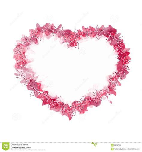 coeur abstrait avec le cadre de dessin de illustration de vecteur image 62457302