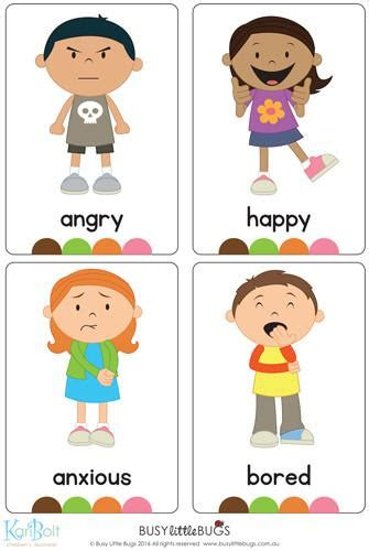 Emotions Full Body Flash Cards  Busy Little Bugs