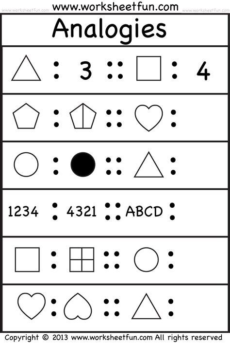Picture Analogies  4 Worksheets  Free Printable Worksheets Worksheetfun