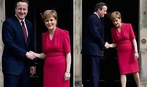 Showdown: David Cameron presented with Nicola Sturgeon's ...