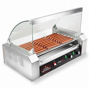Hot Dog Machen : olde midway commercial 18 hot dog 7 roller grill cooker machine 900 watt with cover hotdog roller ~ Markanthonyermac.com Haus und Dekorationen