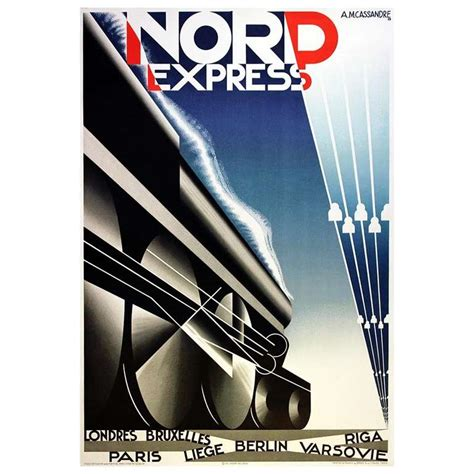 original deco steam poster for nord express for sale at 1stdibs