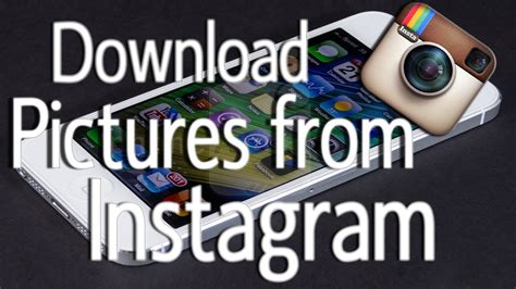How To Download Pictures From Instagram (cydia Tweak