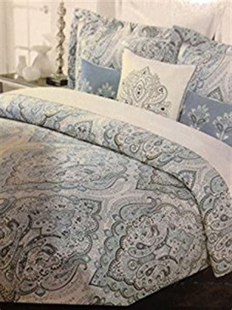 tahari home blue slate king duvet cover set