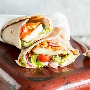 Wraps Füllung Vegetarisch : veggie rolle halloumi wraps mit glutenfreien tortillas ~ Markanthonyermac.com Haus und Dekorationen