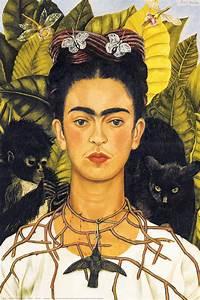 Frida Kahlo Kunstwerk : self portrait with thorn necklace and hummingbird frida kahlo athena posters ~ Markanthonyermac.com Haus und Dekorationen