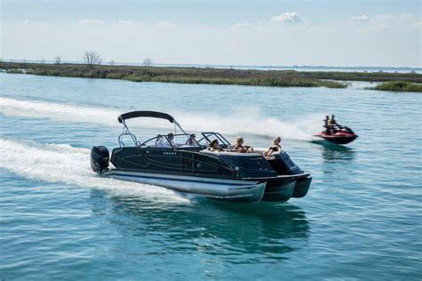 Twin Engine Pontoon by 2018 Crest Continental 270 Nx L Twin Engine Pontoon Boat