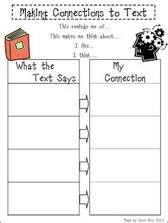 Classroom Freebies Too Making Connections To Text
