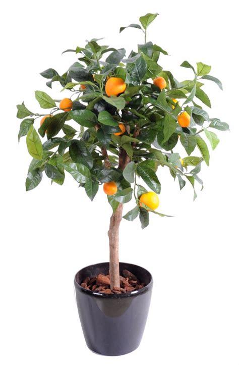 arbre artificiel fruitier oranger t 234 te en pot int 233 rieur h 85 cm vert orange