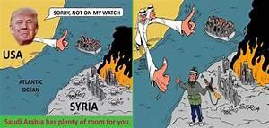 Trump Tweets Photoshopped Anti-Refugee Cartoon