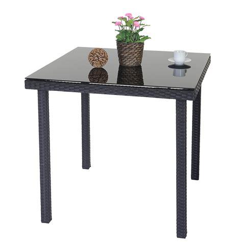 Polyrattan Gartentisch Modica, Beistelltisch Tisch Mit
